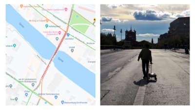 Красная тележка и 99 смартфонов могут создать пробку на Google Maps