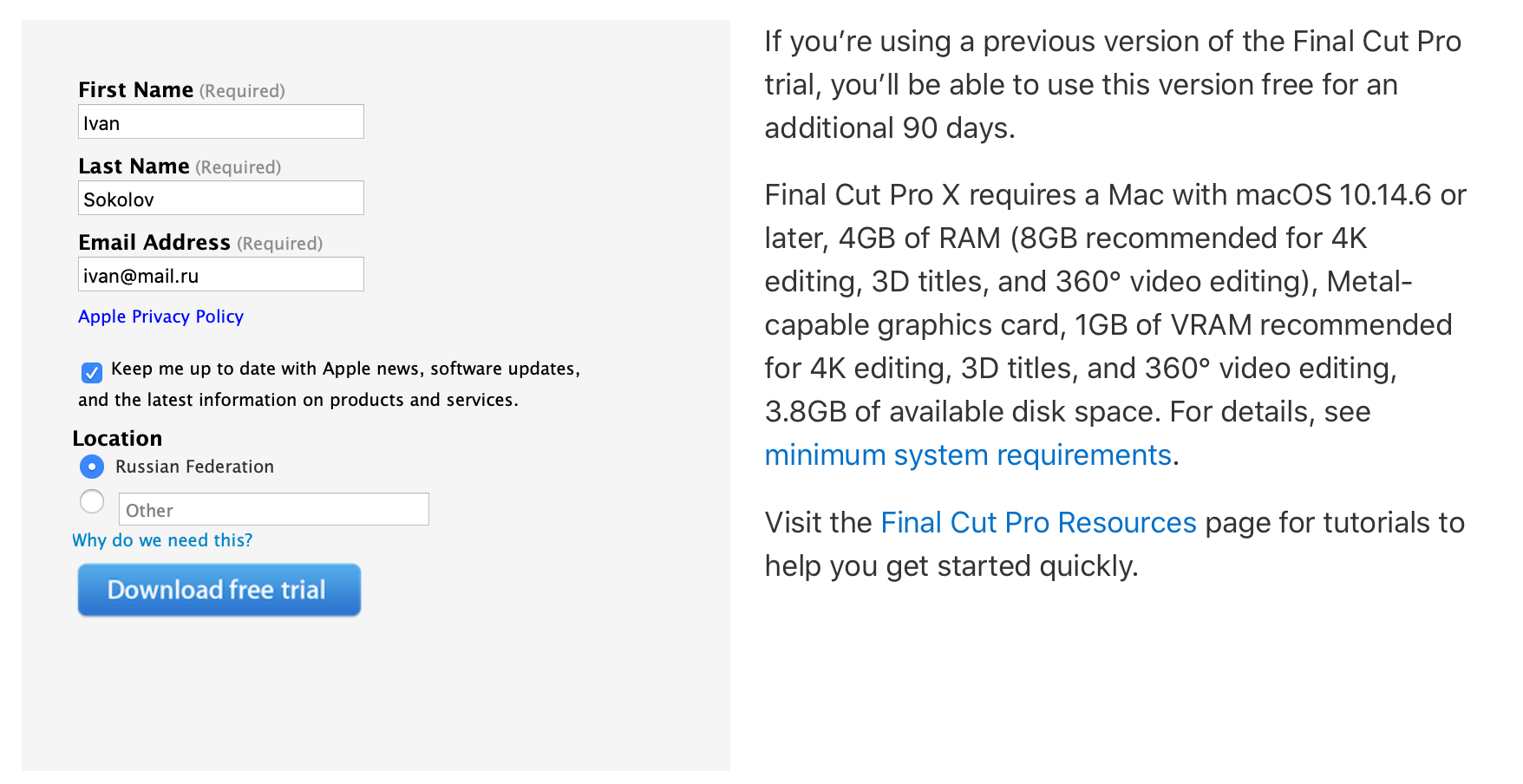 Apple позволяет бесплатно скачать Final Cut Pro X и Logic Pro X
