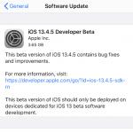 Apple выпустила iOS 13.4.5 beta 1 для разработчиков. Чем она необычна?