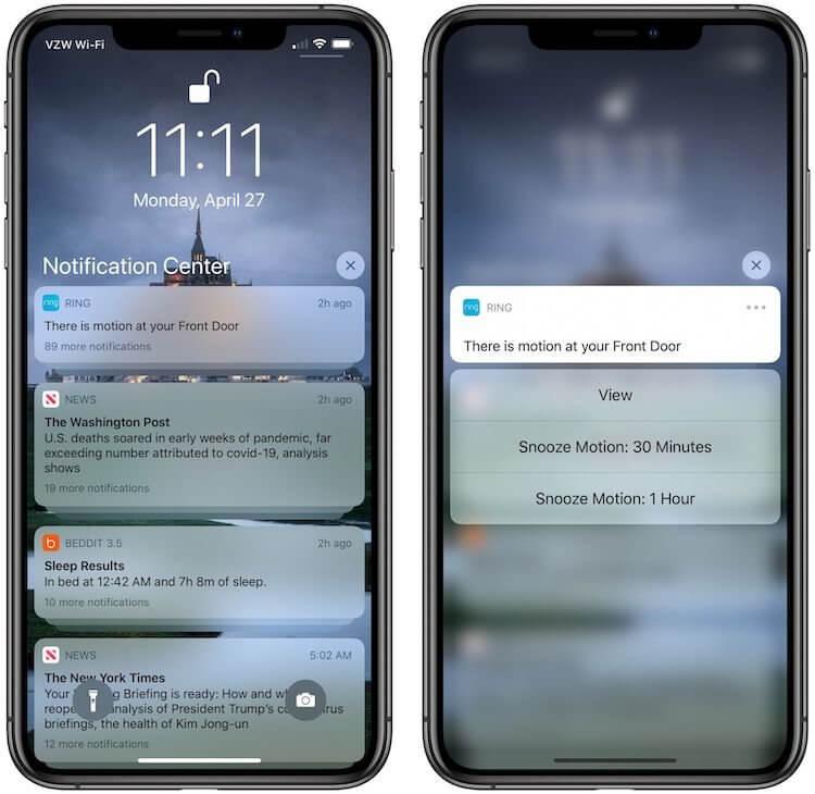 В iPhone SE 2 не работает долгое нажатие на уведомление — это не баг
