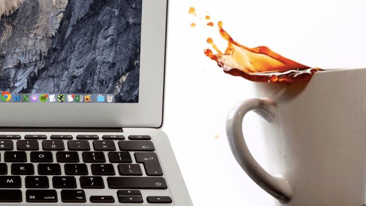 Что делать, если пролил воду, чай или кофе на MacBook? Отвечают эксперты
