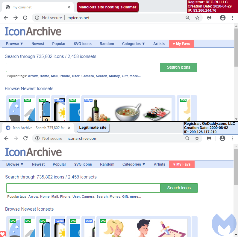 Хакеры научились прятать веб-скиммеры за favicon сайтов
