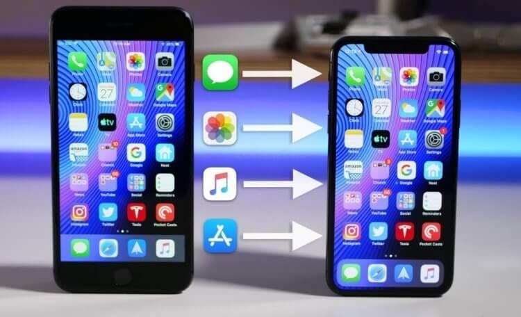 Как перенести данные с одного iPhone на другой