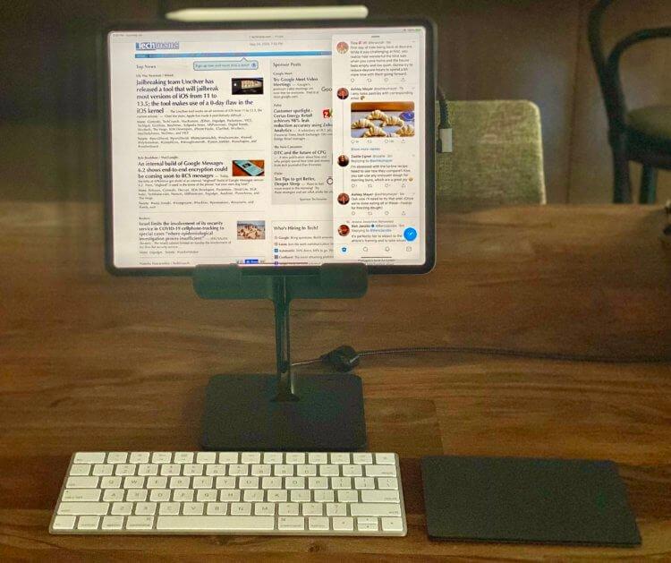Бывший глава разработки Windows сделал из iPad Pro настольный компьютер