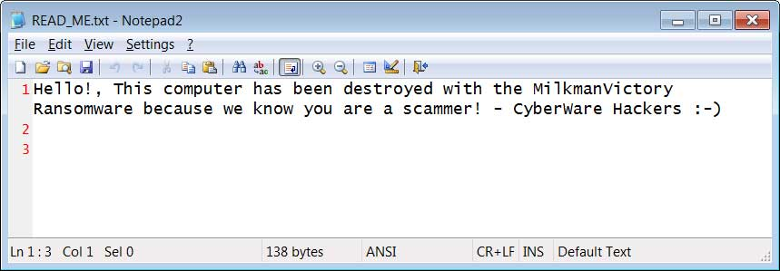 Хак-группа CyberWare атакует мошенников, используя для этого шифровальщик