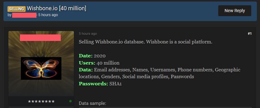 Злоумышленники распространяют данные 40 млн пользователей приложения Wishbone