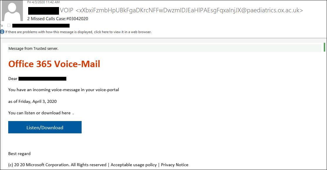 Взломанный сервер Оксфорда использовался для фишинговых атак на Office 365