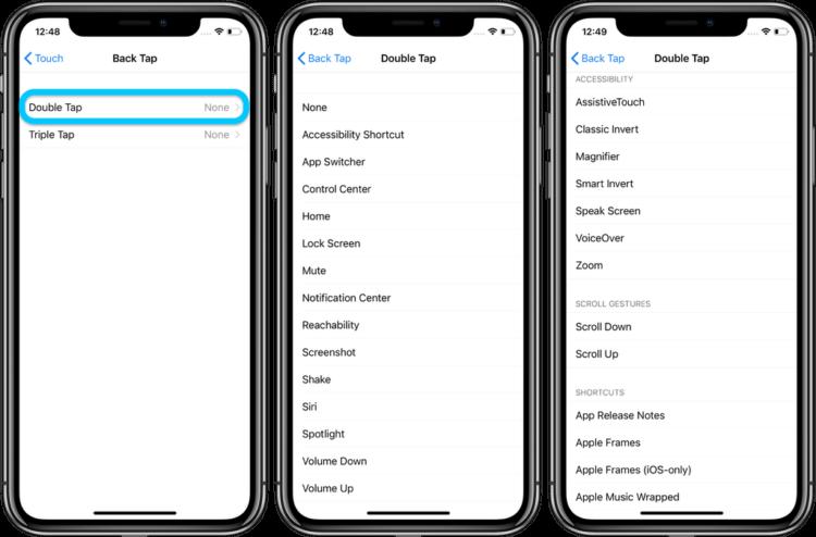 iOS 14 позволит управлять iPhone нажатиями по задней крышке