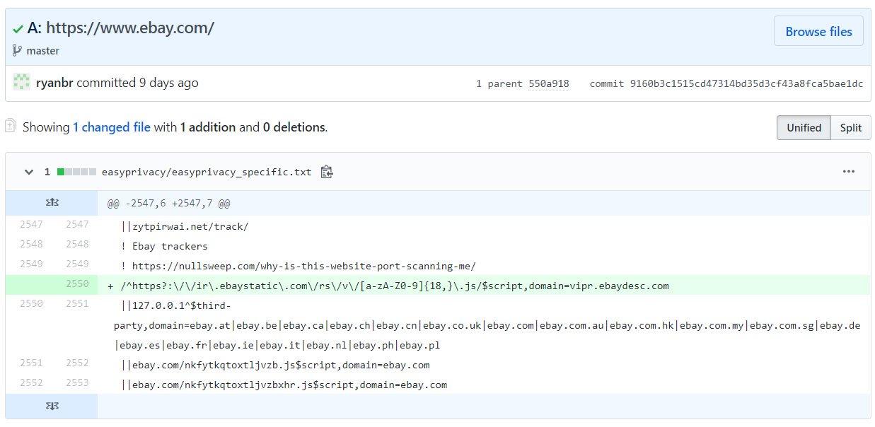 Теперь uBlock Origin блокирует сканирование портов для большинства сайтов