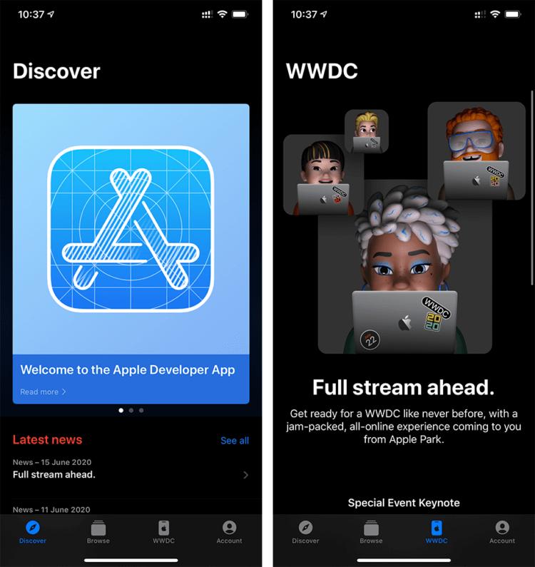 Apple обновила приложение для просмотра WWDC 2020 и выпустила его на Mac