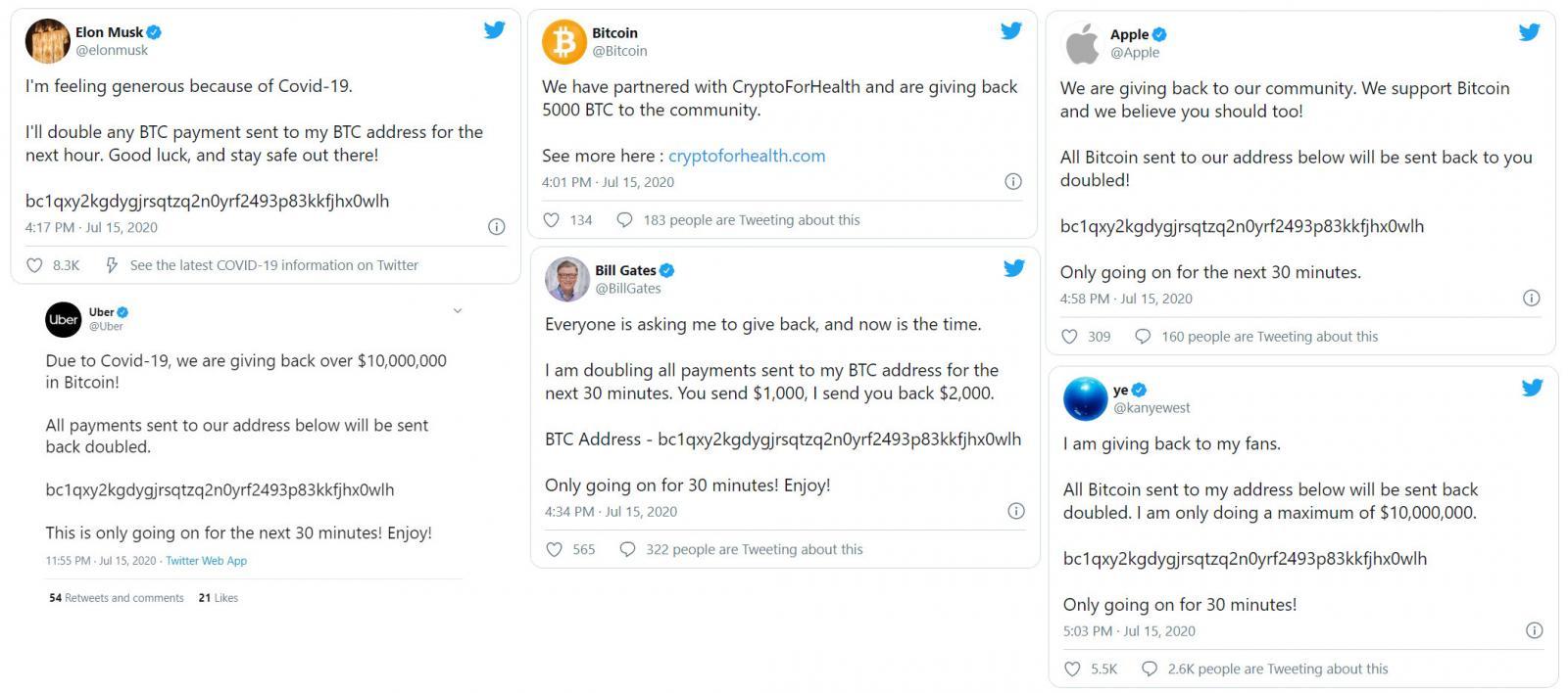 Самая масштабная атака в истории Twitter: взломаны аккаунты звезд, компаний и криптовалютных бирж