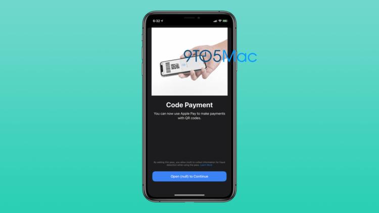 В iOS 14 beta 2 нашли режим оплаты по QR для Apple Pay