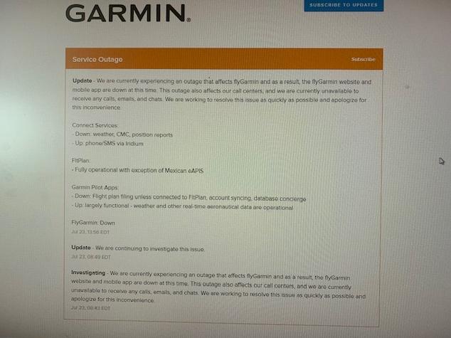 Сервисы компании Garmin не работают из-за кибератаки