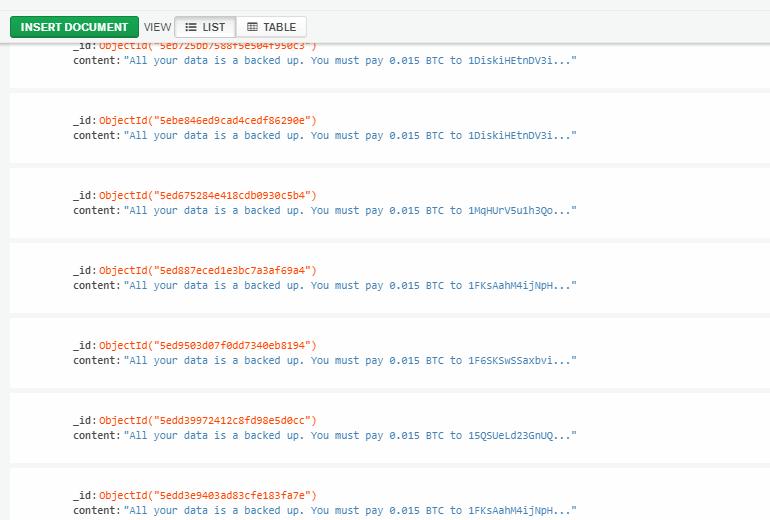 Хакер взломал 23 000 баз MongoDB и угрожает их владельцам проблемами из-за GDPR