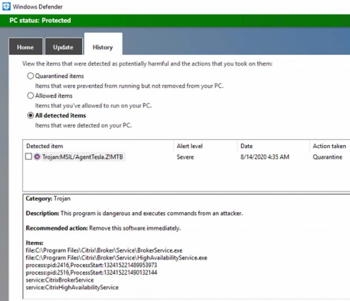 Windows Defender счел продукты Citrix малварью