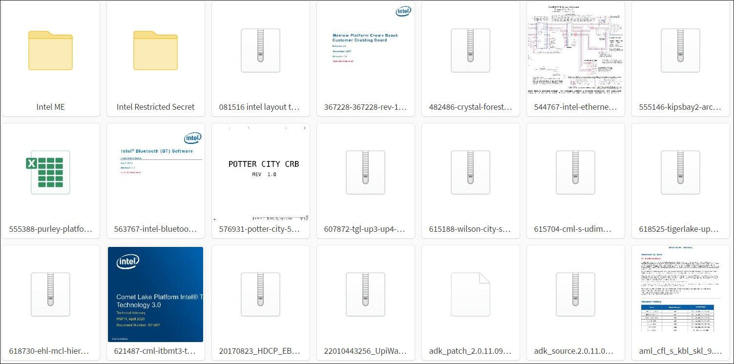 Intel расследует утечку 20 Гб исходных кодов и документов