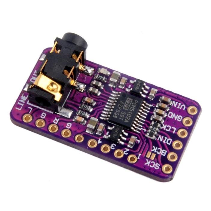 Самодельная плата на чипе PCM5102A компании Texas Instruments