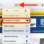 Как перевести страницу в Сафари на iOS 14