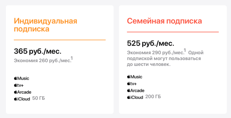 В России заработала подписка Apple One. Как подписаться