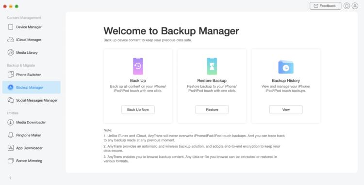 AnyTrans: менеджер файлов для iPhone 12, чтобы держать все данные под контролем