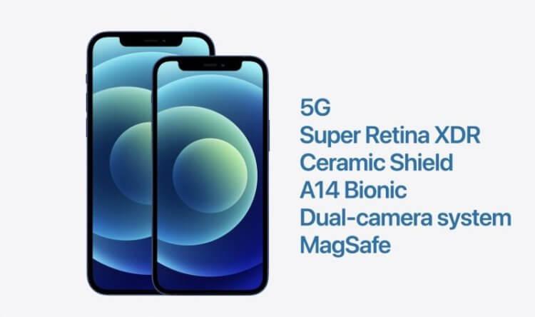 Apple представила iPhone 12 и iPhone 12 mini с экраном 5,4 дюйма