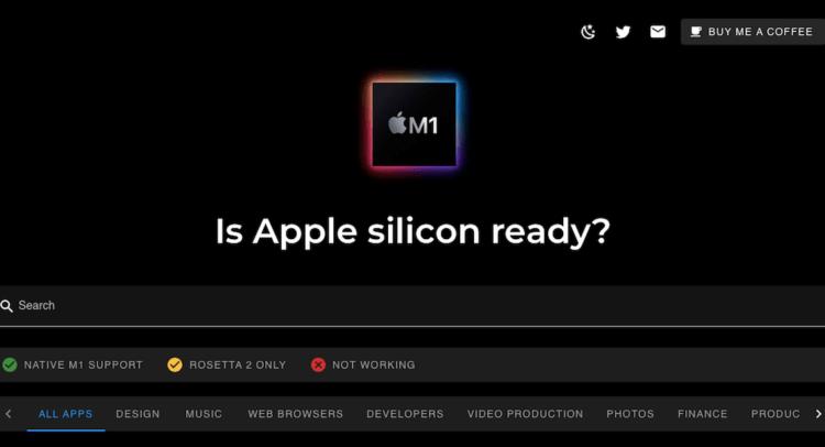 Как проверить, поддерживает ли приложение процессор M1