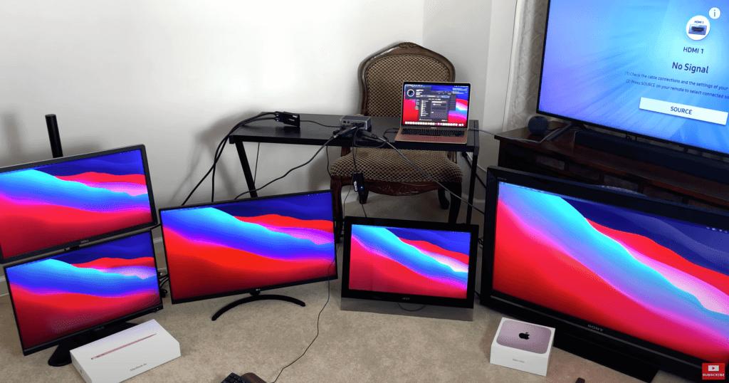 Новые Mac с M1 поддерживают 6 мониторов сразу: как их подключить?