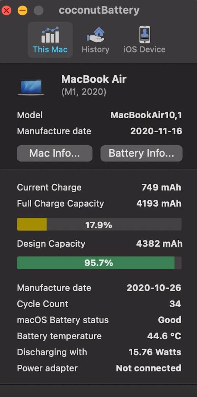 В MacBook Air и MacBook Pro на M1 резко уменьшается ёмкость батареи. Проверьте свой ноутбук!