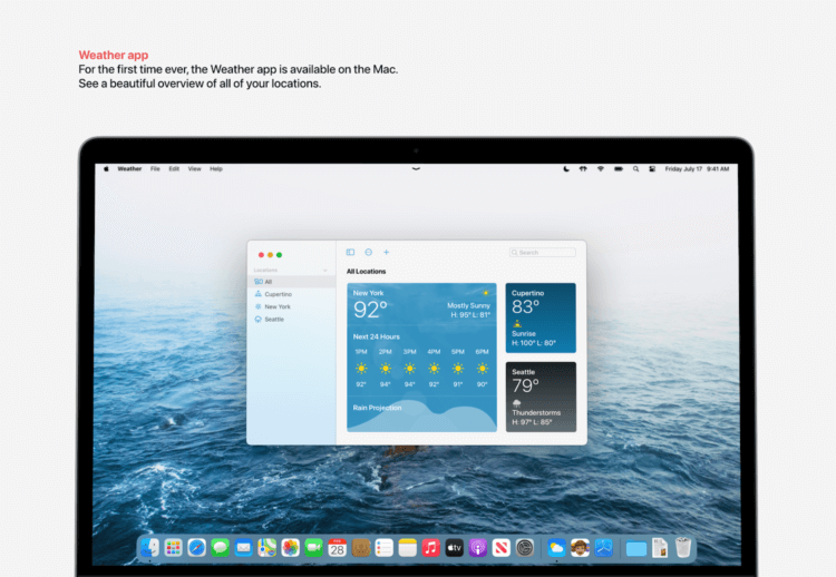 Приложение «Погода», Wallet и новые уведомления: какой будет macOS 12 и как ее назовут
