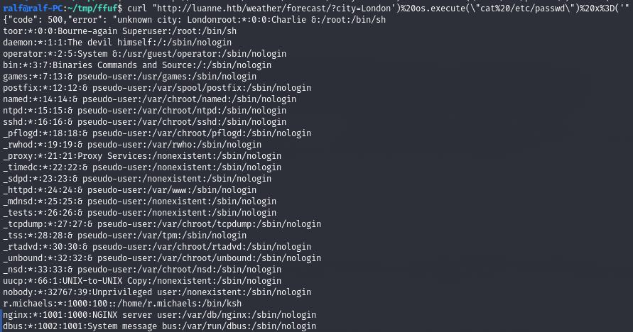 HTB Luanne. Эксплуатируем Lua, чтобы захватить машину с NetBSD