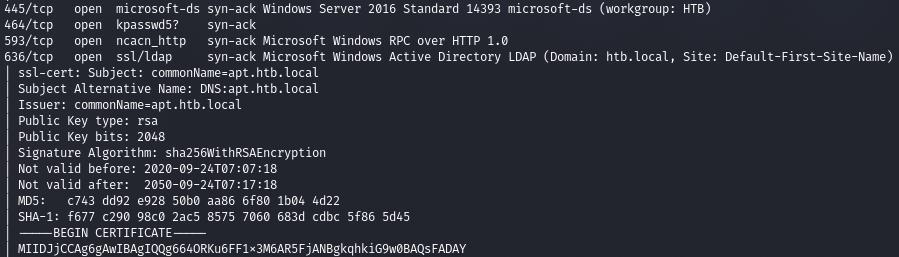 HTB APT. Проводим разведку через RPC и используем Windows Defender для захвата хоста