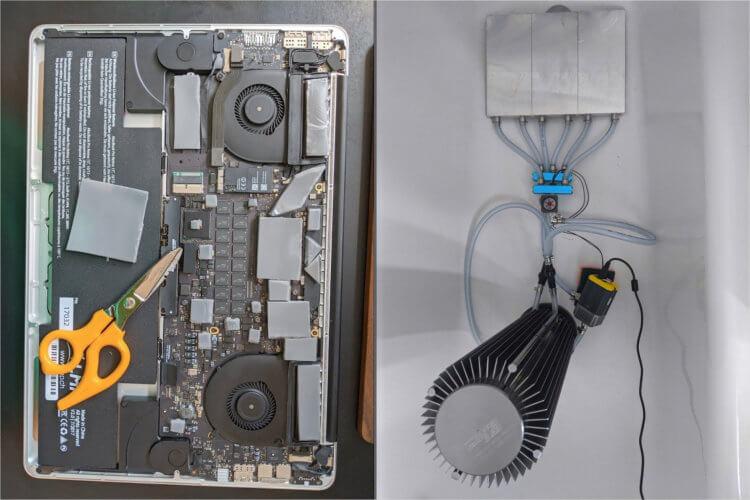 Шумит MacBook Pro? Оснастите его жидкостным охлаждением